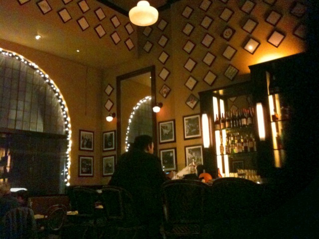 [Snapshot: dinner atmosphere at Cafe Luck in Santa Barbara]