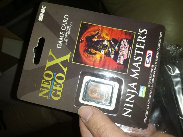 [Snapshot: included Ninja Master's SD game card. Bet it's hackable.]