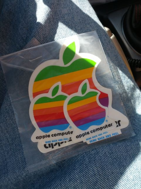 [Snapshot: found in the storage unit: better Apple stickers!]