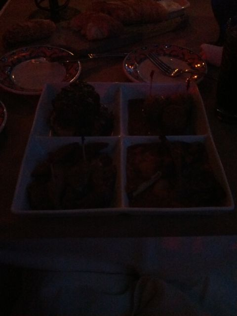 [Snapshot: segunda tapa: sausages, lamb chops, meatballs and short ribs]