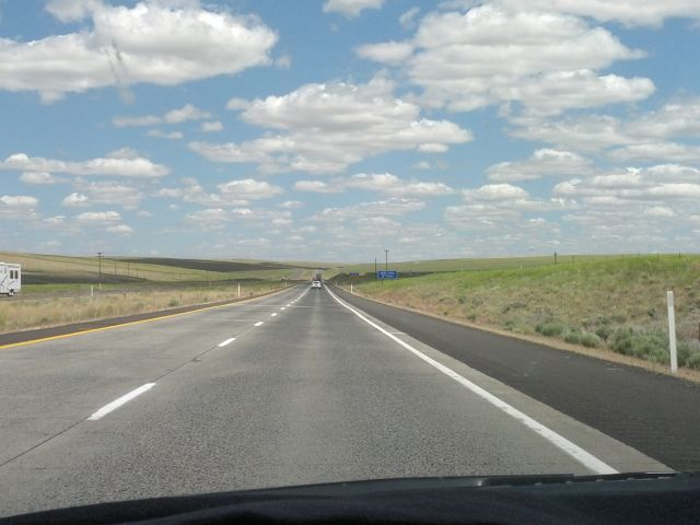 [Snapshot: US 395 N, central Washington state]