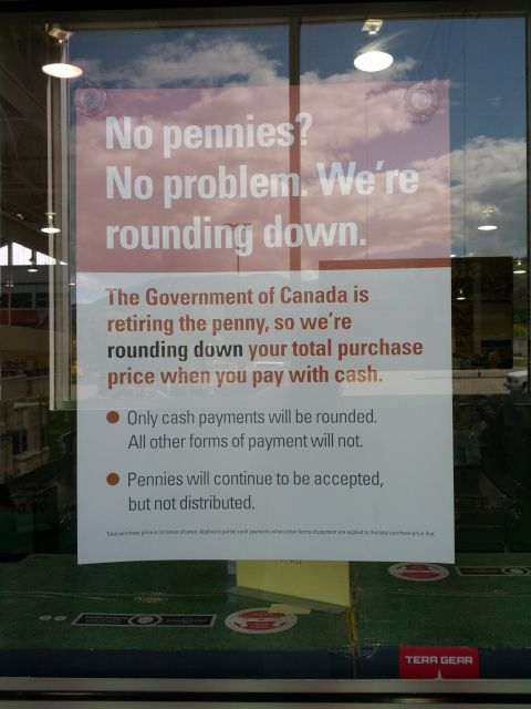 [Snapshot: no Canadian pennies? what will our northern friends think of next?]