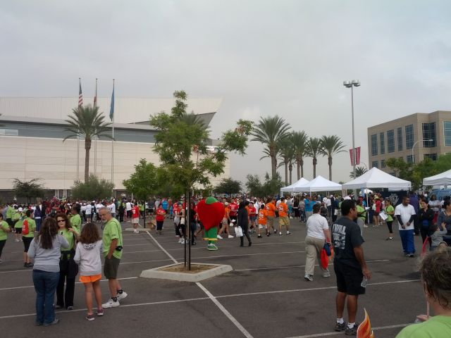 [Snapshot: at the American Heart Association Stroke Walk]