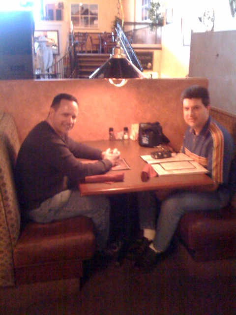 [Snapshot: With Dan Mosqueda at lunch]