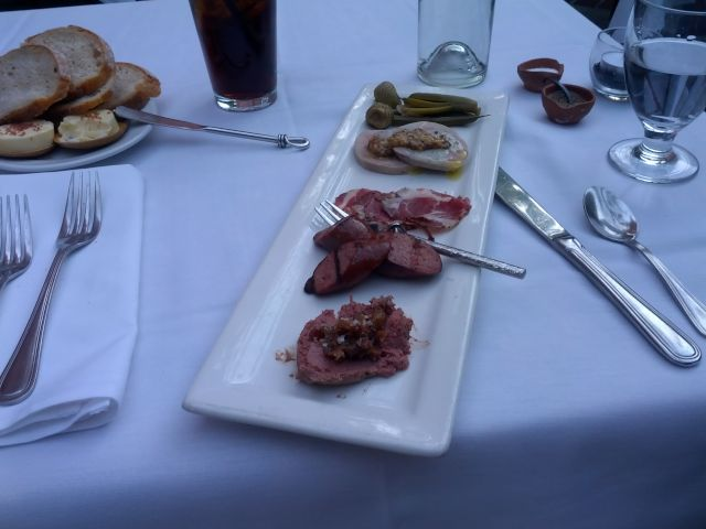 [Snapshot: first course at Mulvaney's: pan et charcuterie]