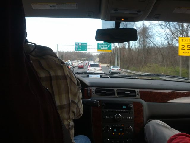 [Snapshot: entering Maryland I-495]