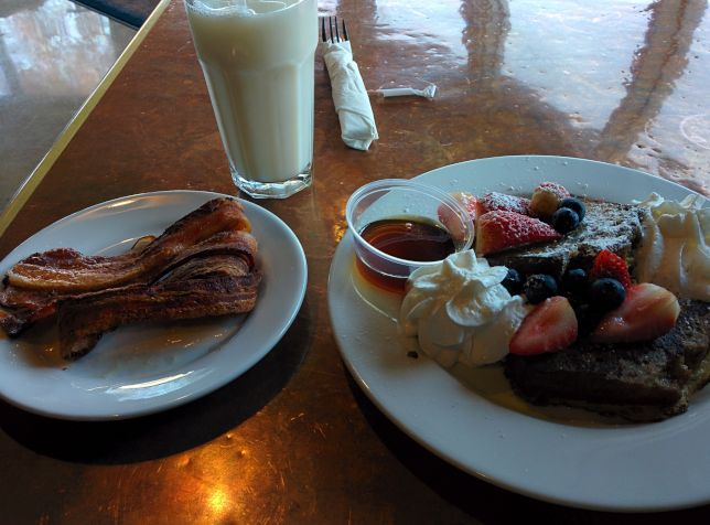 [Snapshot: I got French toast at Crepeville. is that wrong?]