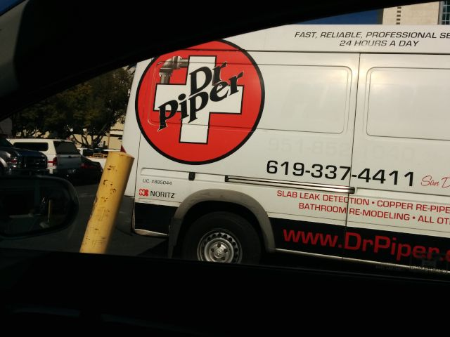 [Snapshot: don't trust your plumbing to Mr. Pibb.]