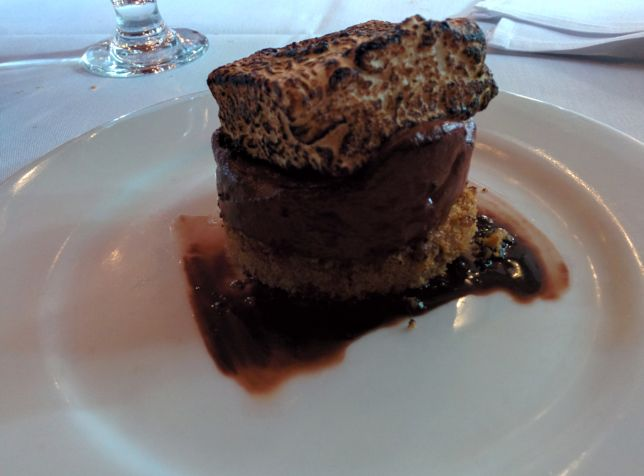 [Snapshot: dessert: the $8 s'more]