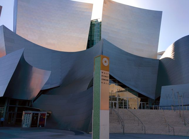 [Snapshot: Walt Disney Concert Hall for tonight's reception]