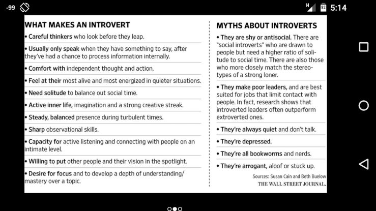 [Snapshot: this is why we introverts will take over.]