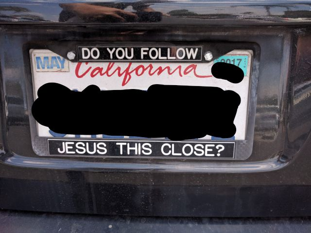 [Snapshot: God loves tailgaters, and I'm trying to.]