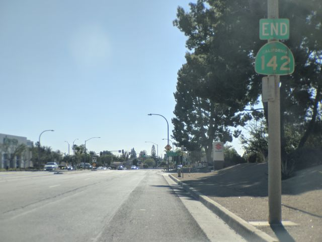 [Snapshot: END CA 142 at CA 90 Imperial Hwy, Brea]