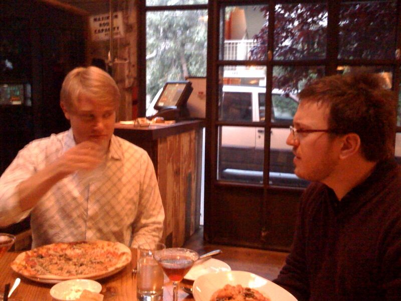 [Snapshot: dinner with @dougw and @al3x]