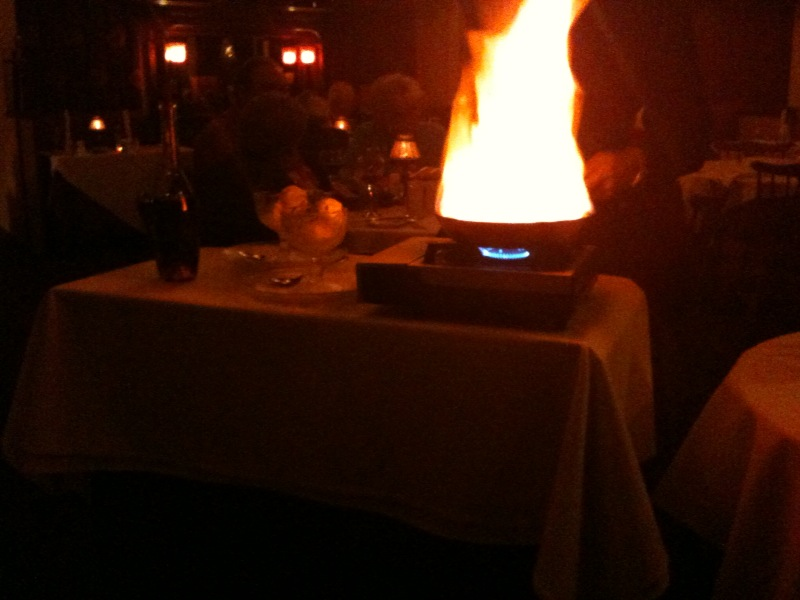 [Snapshot: flaming waiter!]